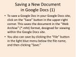 saving a new document in google docs 1
