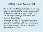 setting up an account 3
