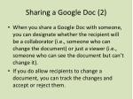 sharing a google doc 2