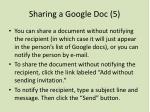 sharing a google doc 5