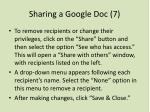 sharing a google doc 7