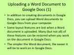 uploading a word document to google docs 1