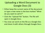 uploading a word document to google docs 3