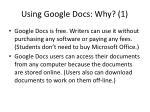 using google docs why 1
