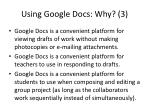 using google docs why 3