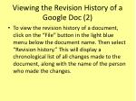 viewing the revision history of a google doc 2