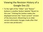 viewing the revision history of a google doc 5