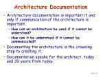architecture documentation