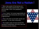jews are not a nation