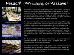 pesach pay sahch or passover
