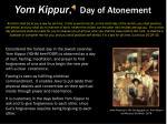 yom kippur day of atonement