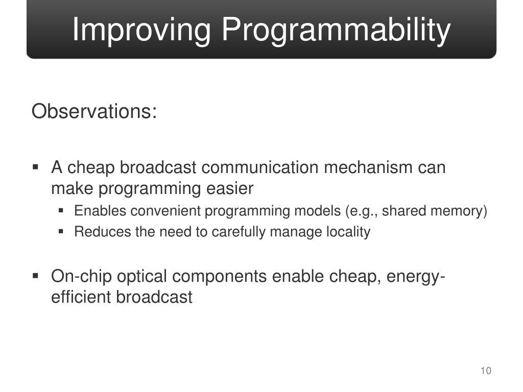 Improving Programmability