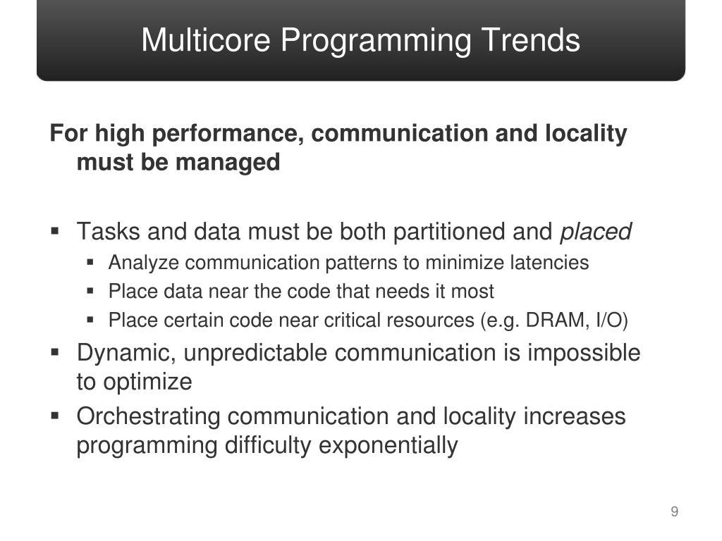 Multicore Programming Trends