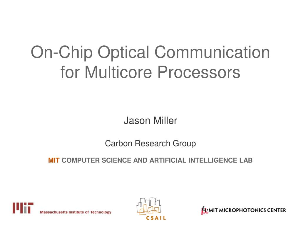 on chip optical communication for multicore processors l.