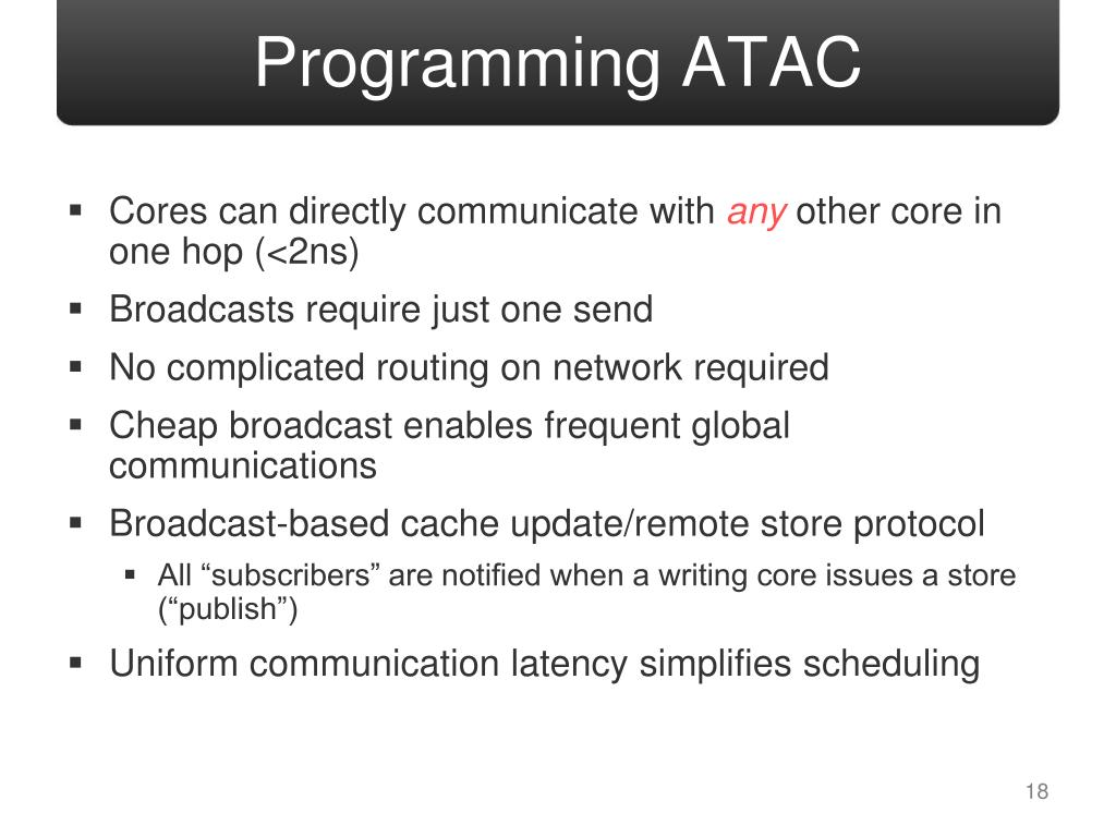 Programming ATAC