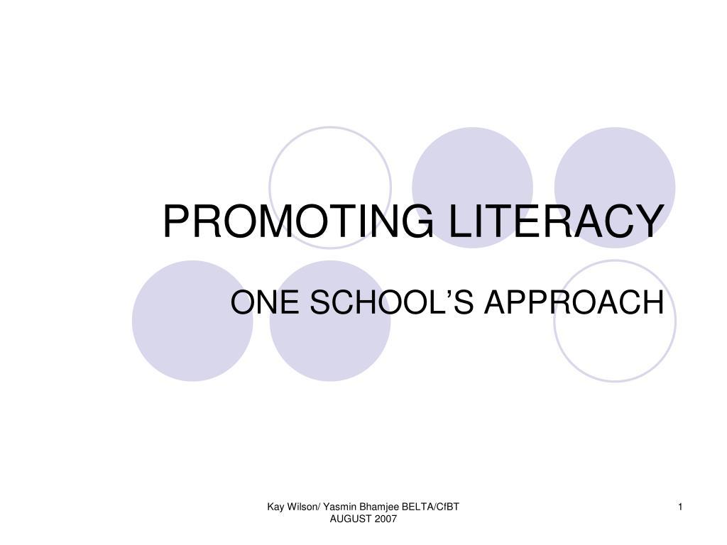 promoting literacy l.
