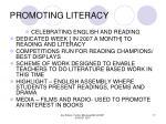 promoting literacy17