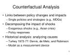 counterfactual analysis
