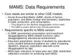mams data requirements