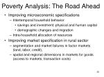 poverty analysis the road ahead