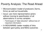 poverty analysis the road ahead35