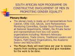 south african ngm programme on constructive involvement of men in promoting gender equality12