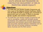 south african ngm programme on constructive involvement of men in promoting gender equality6
