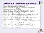 unwanted documents sample