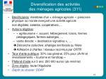 diversification des activit s des m nages agricoles 311