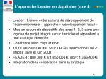l approche leader en aquitaine axe 4