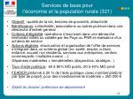 services de base pour l conomie et la population rurale 321