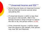 unearned income and ssi