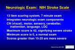 neurologic exam nih stroke scale