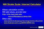 nih stroke scale internet calculator