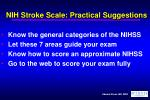 nih stroke scale practical suggestions