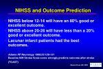 nihss and outcome prediction