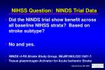 nihss question ninds trial data