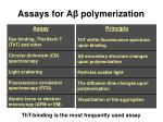assays for a polymerization