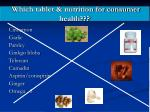 which tablet nutrition for consumer health