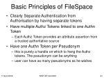 basic principles of filespace
