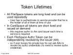 token lifetimes