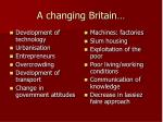 a changing britain