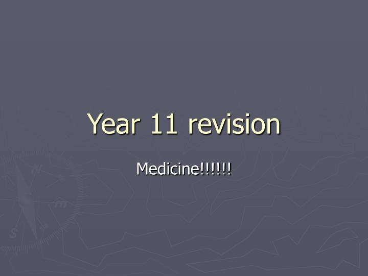 year 11 revision n.