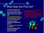 what does the fcia do
