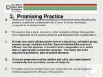 3 promising practice