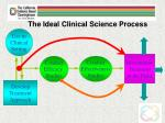 the ideal clinical science process