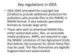key regulations in idea13