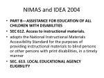 nimas and idea 2004