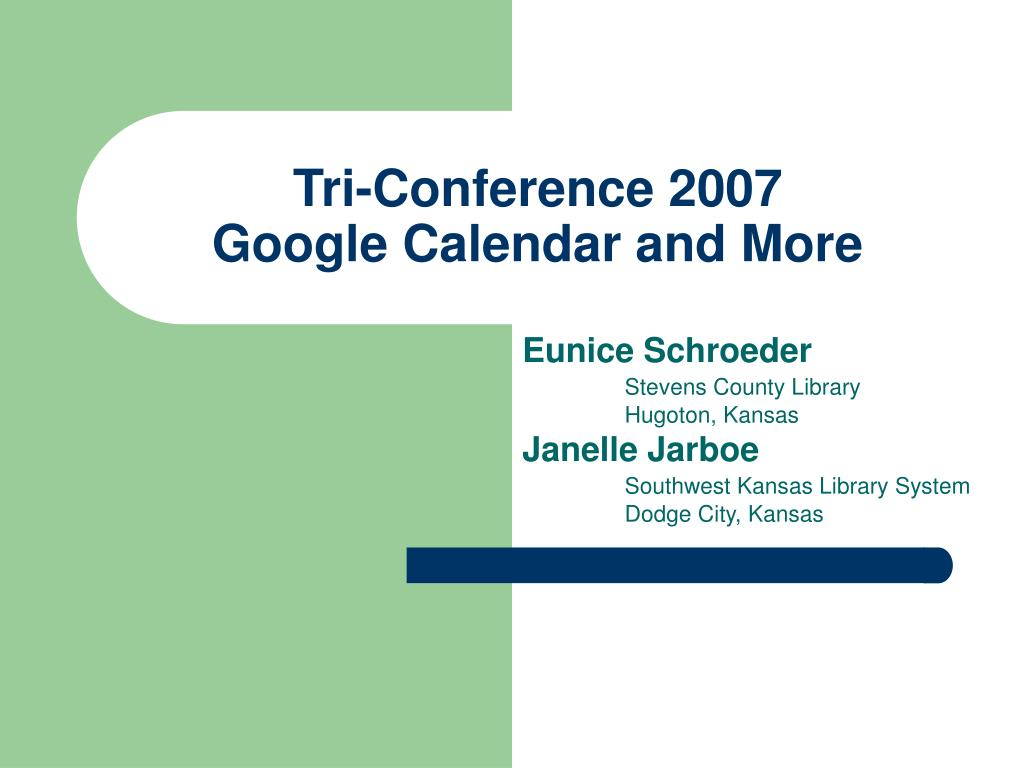 tri conference 2007 google calendar and more