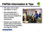 fafsa information tips
